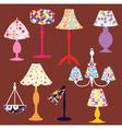 Lighting lamps set vector image