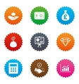 Money cash and finance icons Handshake sign vector image