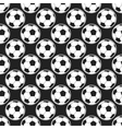Seamless pattern with soccer balls vector image