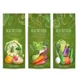 Vegetables healthy vegetarian food sketch banners vector image