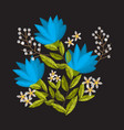 vintage embroidery flower composition for decor vector image