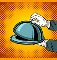 tray closed comic book style vector image