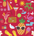 Summer vacations seamless pattern vector image