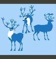 silhoette deer vector image