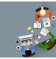 Staff around table vector image