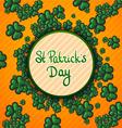 St Patricks Day Green background trefoil vector image