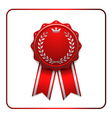 Ribbon award icon red vector image
