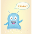 Blue happy alien vector image