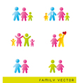 colorful families vector image