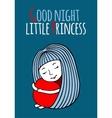 Good night little Princess vector image