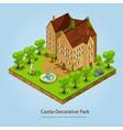 Isometric Castle Landscape Design Concept vector image