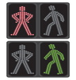 LED crosswalk signal vector image