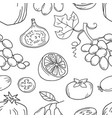 monochrome seamless pattern with fruits vector image