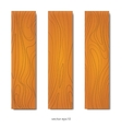 wood boards set vector image