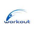 Workout Logo vector image