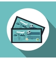 icon tickets airplane travel vacation design vector image