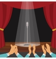 Clapping Of Spectators vector image