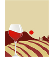 Glass of wine vector image vector image