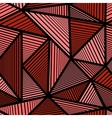 Colorful pattern with red triangle vector image vector image