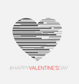 minimalistic valentines card vector image