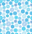 pattern with round ornament vector image