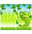 2 colorful nature banners vector image