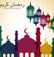Bright Ramadan card in format vector image