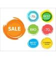 Sale paint drops set vector image vector image