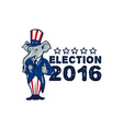 US Election 2016 Republican Mascot Thumbs Up vector image