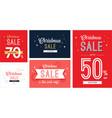 christmas sale banner set vector image