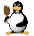 penguin and ice cream vector image