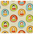 Social networks pattern vector image