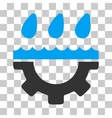 Water Gear Drops Icon vector image