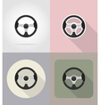 car equipment flat icons 02 vector image vector image