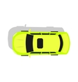 Green Car Top View Flat Design vector image vector image