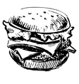 Delicious juicy burger vector image vector image