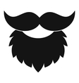 Beard and mustache icon simple style vector image