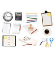 mega office supplies set3 vector image