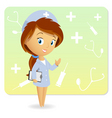 cute nurse vector image vector image