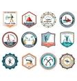 Expedition Emblems Set vector image
