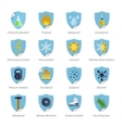 Protection Proof Flat Color Stickers vector image