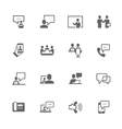 Simple Business Communication Icons vector image vector image