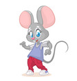 a dancing mouse vector image