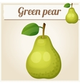 Green pear Cartoon icon Series of food vector image