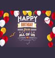 stylish greetings happy birthday creative card vector image