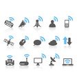 wireless communications iconblue series vector image