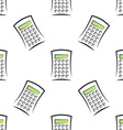 Calculators seamless pattern vector image