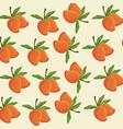 mango fruit tropical food seamless pattern vector image