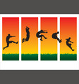jumping sequence vector image vector image