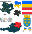 Map of Lower Austria vector image